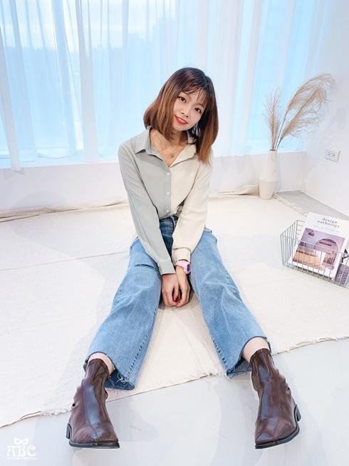 TheMadre|新竹女裝|新竹服飾店|穿搭分享|拼色綁帶襯衫設計款|牛仔褲穿搭
